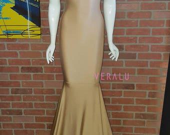 VERALU Mermaizing tan dress