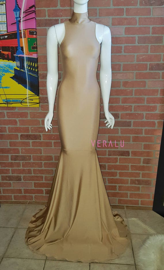 VERALU Mermaizing tan dress