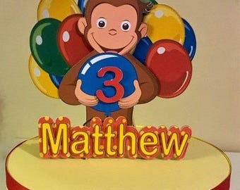 Curious George Cake Topper/Personalized Topper