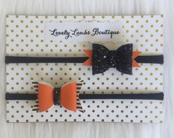 HALLOWEEN BOWS, Halloween baby bows, halloween bow set