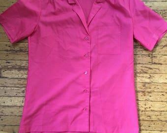 Lady Manhattan Hot Pink Blouse