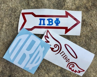 Pi Beta Phi Decals | Sorority Stickers | Sorority Decals | Officially Greek Licensed Product