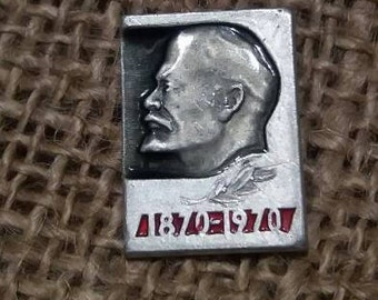 100 years lenin Soviet Badges Vintage badge Soviet Vintage Pin Soviet UnionVintage Collectible pin communism Soviet badge 1870-1970