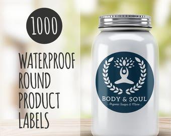 Custom Round Product Stickers- 1000 Custom Stickers- Round Vinyl Stickers- Waterproof