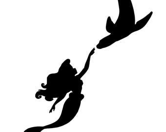 Disney's The Little Mermaid & Sea Lion decal (Ariel)