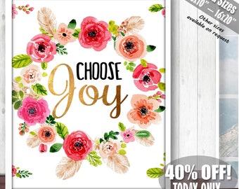Choose Joy, Joy Sign, Choose Joy Sign, Inspiring Wall Art ,Printable Quote Art, Printable Quote, Inspirational Wall Art, Inspirational Gifts