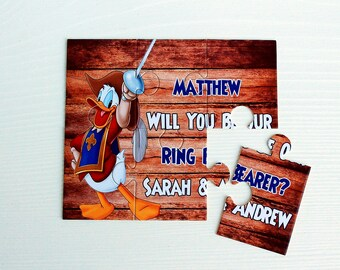Will You Be Our Ring Bearer, Will You Be My Ring Bearer, Ring Bearer Puzzle, Ask Ring Bearer, Ring Bearer Proposal, Ring bearer Card