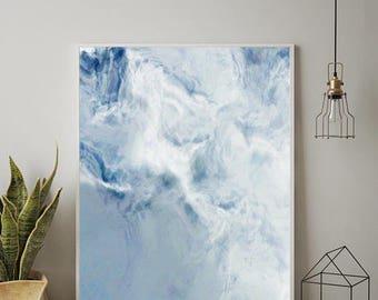 OCEAN ART, Marble Decor, Scandinavian Wall Art, Modern Wall Art, Minimalist Art, Marble Print, Abstract Art Print, Waves Print,