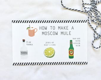 Moscow Mule Recipe Card