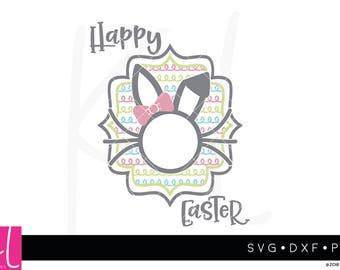 Easter Monogram svg, Easter svg, Easter Bunny svg, Bunny svg, Bunny Monogram svg, Happy Easter svg, Easter Bunny, Monogram Frame svg