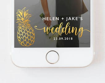 SNAPCHAT GEOFILTER WEDDING,,Gold Wedding Snapchat Filter,Gold Wedding Geofilter,Snapchat Wedding Filter,Wedding Filter, Pineapple Geofilter,