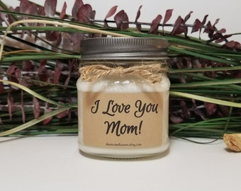 Birthday Gift for Mom - 8oz Soy Candles Handmade - Mom Gift -  Mother's Day Gift - World's Best Mom - Mother of the Bride - Mason Jar Candle