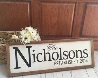 Custom Last Name Sign, Wedding Date Sign, Wedding Gift, Custom Wedding Gift, Custom Wood Sign, Rustic Home Decor, Farmhouse Decor