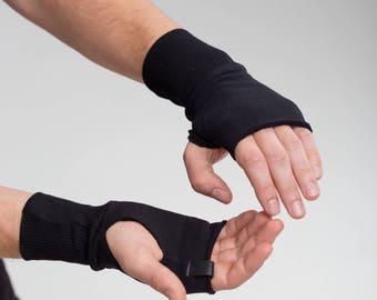 Valentine Day Gift for Men \ Black Mittens Gloves Man Fingerless Gloves Cotton Mittens Gloves for Men Birthday Gift for Him A0062