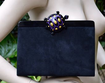 ISABEL CANOVAS 1980 Turtle Clasp Clutch