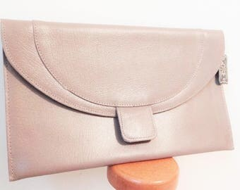 Free Shipping* 1980s Vintage Purse, Clutch, Brand New With Tags, Taupe, Evening Bag, Wedding Bag, Retro Accessories, Vintage Bag, Taupe Bag