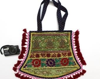 Handmade Ethnic Designer Tribal Banjara Patchwork Embroidered Hippy Fashionable Stylish Trendy Hippie Gypsy Boho Bohemian Fancy Bag G280