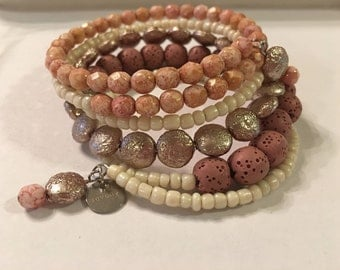 Blush Multi wrap bracelet