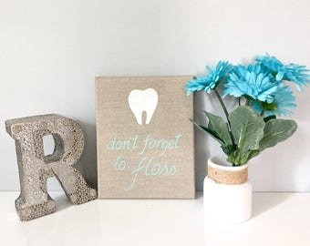 Escape The Bathroom Dental Floss dental hygiene art // floss like a boss // dental
