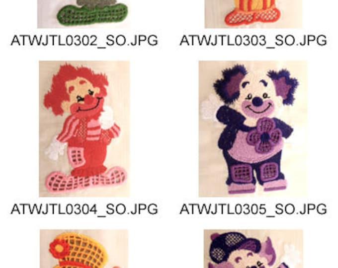 Cutwork-Clowns ( 10 Machine Embroidery Designs from ATW ) XYZ17F