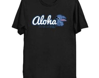 ALOHA STITCH Shirt I Am Cute and Fluffy Disney Cartoon Lilo Hawaiian Geek T-Shirt Anime Nerd Hawaii Experiment 626