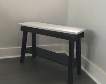 Handmade wooden bench / stool