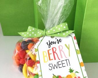 Tutti Fruitti Birthday Party Favor Tag - Tutti Fruitti Thank You Tag - Tutti Fruitti Decor -  Tutti Frutti - Two-tti Fruity