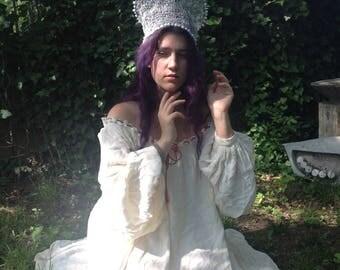 Snegurotchka Kokoshnik or Snow Maiden  (Knitted Wire)