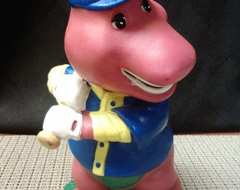 Baseball barney (#3) coin bank by Lyons made in China in 1982