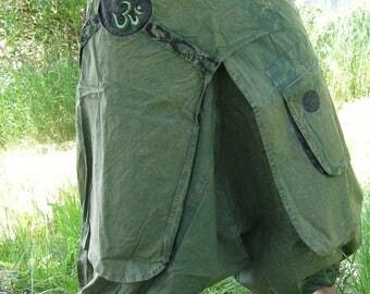 Long Harem Pants - Aladdin Trousers - Afghani Pants - Alibaba Pants - Men - Women - Cotton