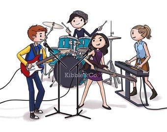 Riverdale, Riverdale CW, Jughead Jones, Archie Andrews, KJ Apa, Veronica Lodge, Betty Cooper, Riverdale TV Cast, Art Print, Illustration