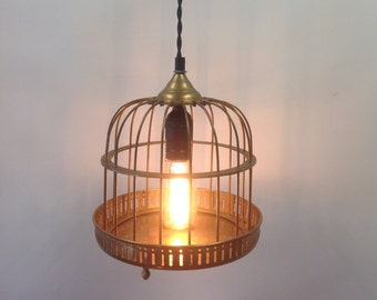 Little Bird Cage Pendent/Desk Light