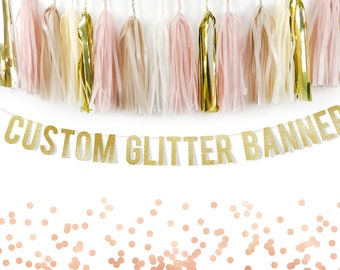 Custom Glitter Banner for your Party, Custom Banner, Personalised Banner, Wedding Banner, Bachelorette Banner,  Photoshoot Party Banner