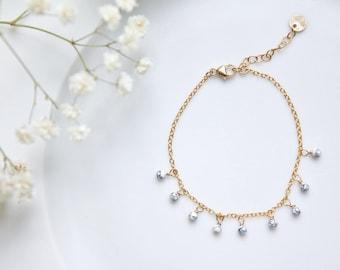 Tsubomi - Bracelet 14k Gold Filled, Howlite