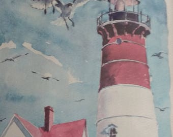 Cape Cod watercolor prints  Framed  Pair   Phil Austin, artist