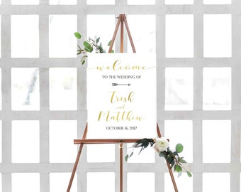 Printable Wedding Welcome Sign- Welcome Wedding Sign- Printable Wedding Sign- Wedding Poster- Wedding Reception Sign- DIY Wedding Sign