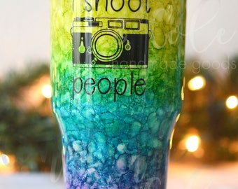 "Photographer ""I Shoot People"" 30oz stainless steel insulated tumbler"