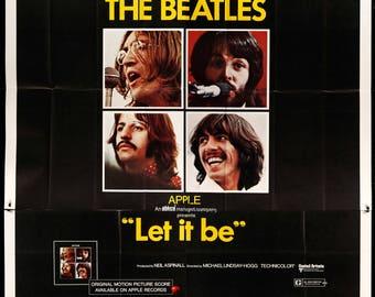 "Let It Be (1970) Original Six-Sheet Movie Poster - 81"" x 81"""