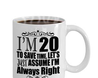 20th Birthday Funny Gift Mug