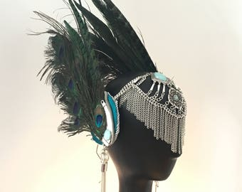 Aphrodite Ethnic boho festival feather headdress