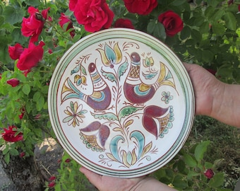pottery plates rustic ceramic plate pottery large bowl pottery dinnerware pottery large plate hand built plate wheel thrown plate clay plate