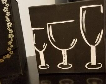 Three Wine Glass Painting