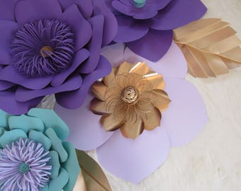 HARD COPY Template 4 Large Paper Flower