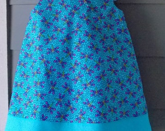 Turquoise Dragon Fly Print Jumper