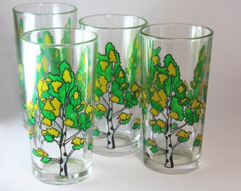 Hand painted glasses etsy for Hand painted drinking glasses