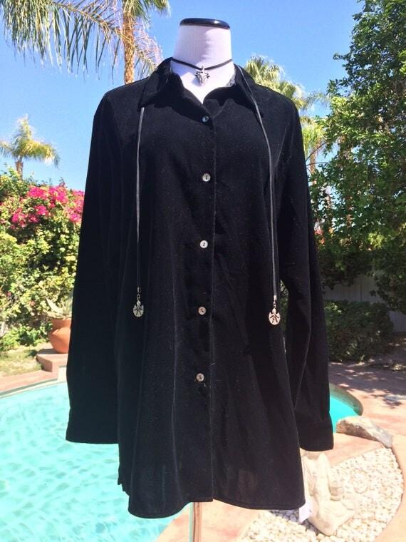 Black Velvet Liz Claiborne  Size 10 Shirt Jacket