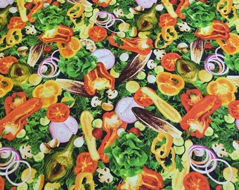 Vegetables Cotton Fabric