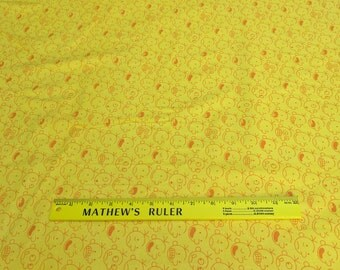 Diary of a Wimpy Kid-Yellow Cotton Fabric from Robert Kaufman Fabrics