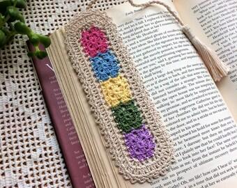 Crochet Bookmark; Books Accessories; Granny Squares Bookmark; Book Club Accessories; Book Club Bookmarks; Handmade Bookmarks; Bookmarker