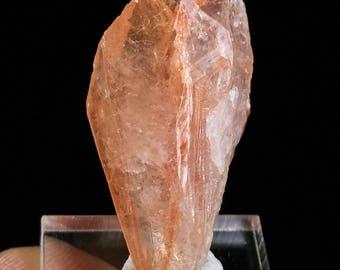 Orange Phantom Quartz Crystal on Matrix from Minas Gerais, Brazil 23